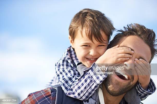 Divertido com o pai