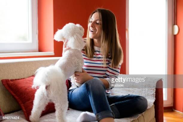 Amuser avec chien