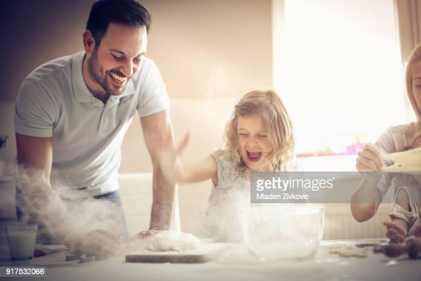 fun with flour. - baking stock pictures, royalty-free photos & images