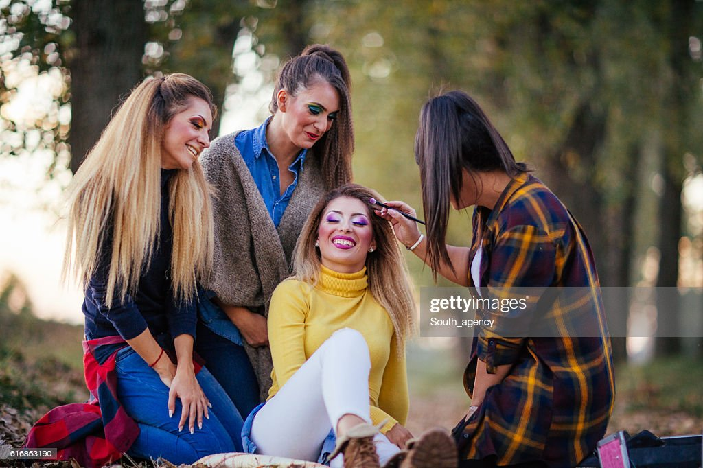 Fun with make up : Stock Photo