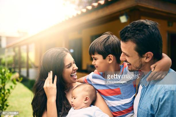 fun with the family - latin american and hispanic ethnicity stock pictures, royalty-free photos & images