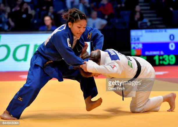 Funa Tonaki of Japan defeated Noa Minsker of Israel by an ippon after the Israeli was disqualified to reach the u48kg final during the 2017...