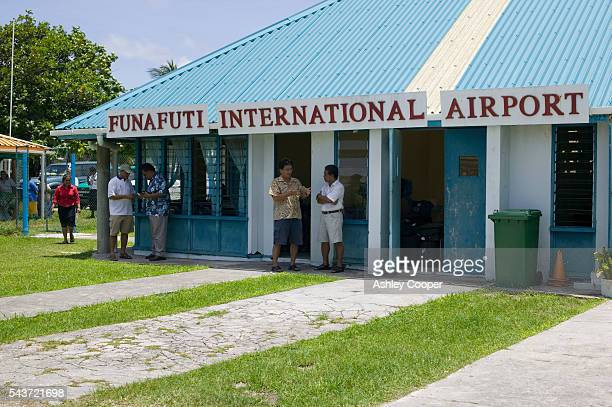 Funafuti Atoll is at the front line against global warming 15 feet above sea level at the highest point rising levels are putting the population of...