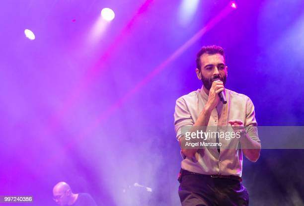 Funambulista and Marco Mengoni performs in concert at Noches del Bótanico Festival on July 12 2018 in Madrid Spain