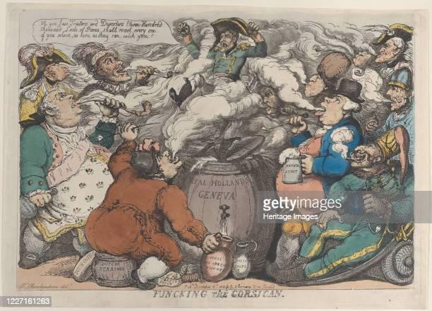 Funcking the Corsican December 6 1813 Artist Thomas Rowlandson