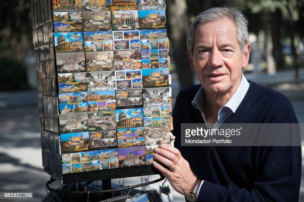 Functionary Guido Bertolaso mayoral candidate of Rome for a few months with FI next to some souvenirs of Rome Rome Italy 27th March 2016
