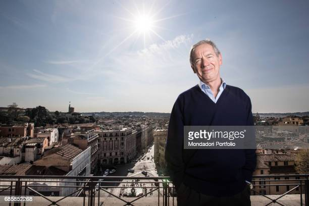 Functionary Guido Bertolaso mayoral candidate of Rome for a few months with FI on a terrace Rome Italy 27th March 2016