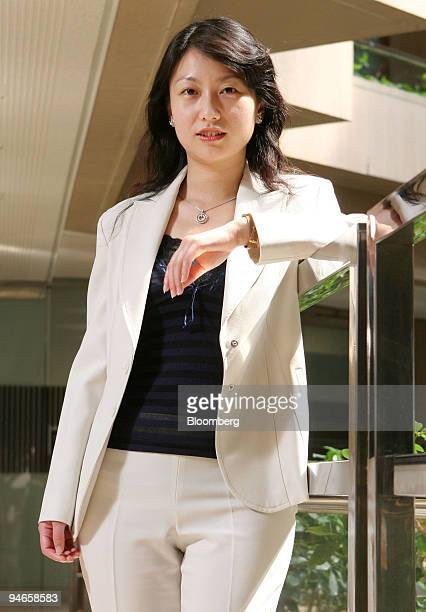 Fund Manager Phoebe Lu of JF Asset Management Ltd stands for a portrait in Taipei on October 10 2006