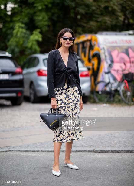Funda Christophersen is seen outside Stine Goya during the Copenhagen Fashion Week Spring/Summer 2019 on August 8, 2018 in Copenhagen, Denmark.