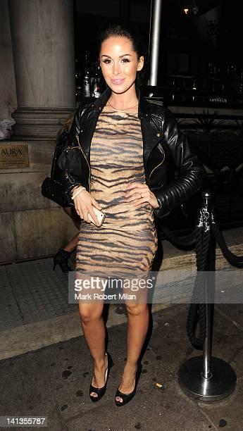 Funda Onal at Aura night club on March 14 2012 in London England