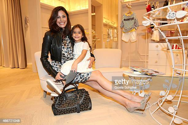b2d27c0ba9d7dc Funda Vanroy and her daughter Emilia pose during the TWINSET Simona Barbieri  FlagshipStore Opening Event on