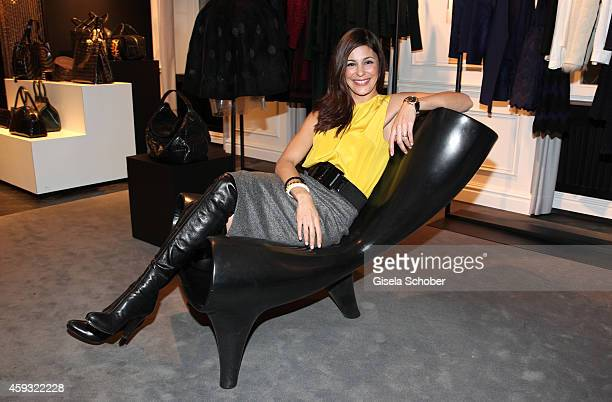 Funda Vanroy poses during MaryKate Olsen and Ashley Olsen present their collection 'The Row' at Marion Heinrich on November 20 2014 in Munich Germany