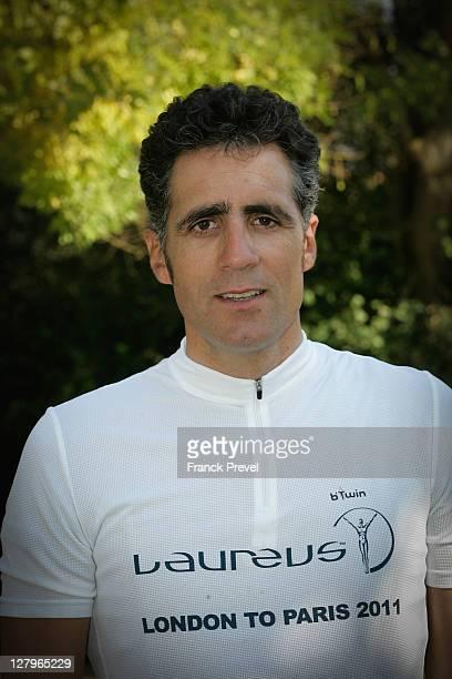 Fundraiser Miguel Indurain during the Laureus Bike Ride London to Paris at Beynes on October 01, 2011 in Paris, France.