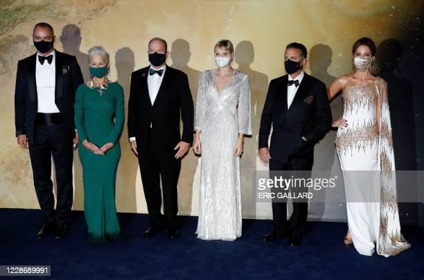 Fundraising Chairman Milutin Gatsby, English actress Helen Mirren, Prince Albert II of Monaco, Princess Charlene of Monaco, English actor Andy Garcia...