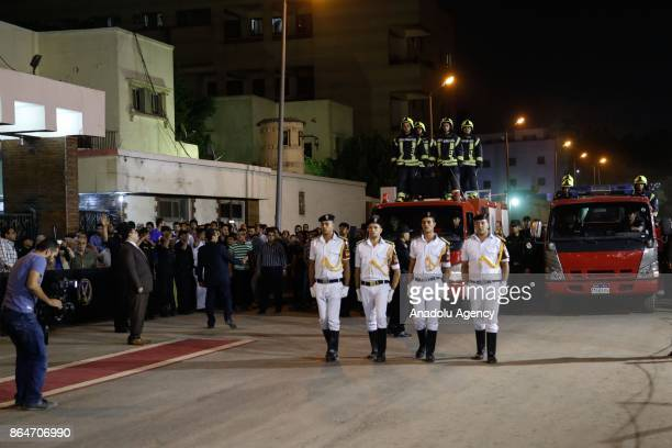 A funeral ceremony held at Police Mosque for Lieutenant Ahmed Zeydan and Lieutenant Amro Salah who lost their lives during a gun fight among 14 other...