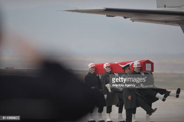 A funeral ceremony held for 5 soldiers who were martyred in Syrias northwestern Afrin region during an operation against PYD/PKK within the...