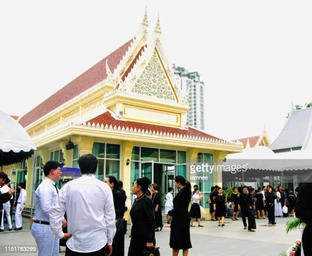 タイのワットトンの葬儀式 - ceremony ストックフォトと画像