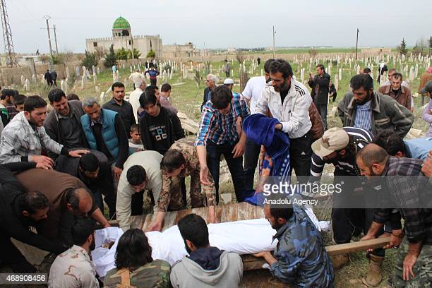 Funeral ceremony is held after at least 38 people killed and 15 others injured late Tuesday in two suicide car bombings carried out allegedly by...