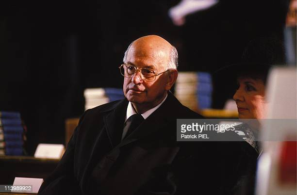 Funeral ceremony of Franz Josef Strauss in Munich Germany on October 07 1988President P W Botha of South Africa