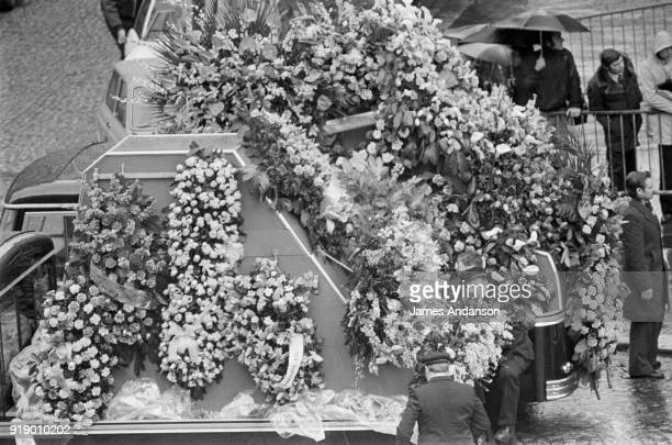 Funeral ceremony of french singer Claude François in Auteuil Paris district 15th March 1978