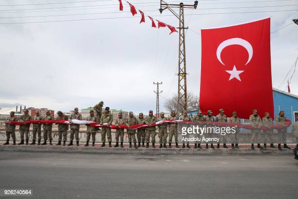 A funeral ceremony of martyred specialist corporal Ridvan Cevik who was martyred during the 'Operation Olive Branch' launched by Turkish Armed Forces...