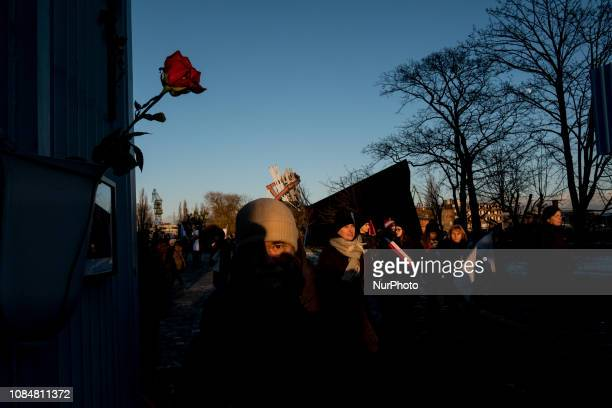 Funeral ceremony of Mr Pawel Adamowicz mayor of Gdansk who was stabbed during charity concert in Gdansk Poland on 18 January 2019