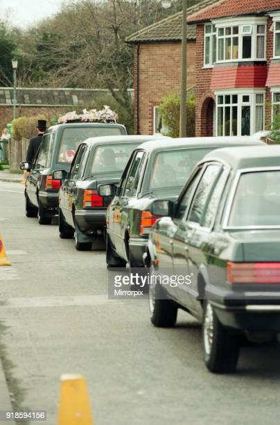 Funeral cortege for schoolgirl Nikki Conroy Tuesday 5th April 1994 On 28th March 1994 a masked man carrying a shotgun and knives burst into a...