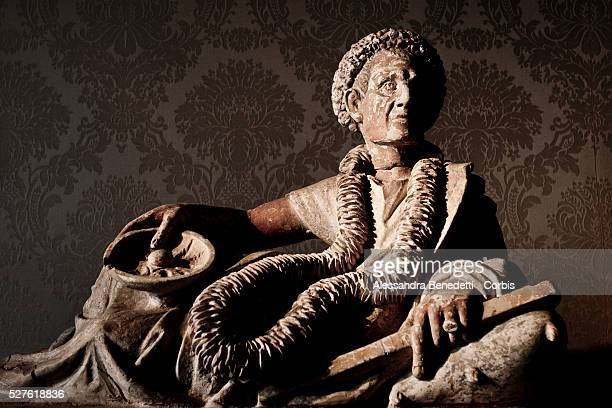 """Funeral decoration statue on display during the opening of a special exhibition 'L'Eta della conquista"""" """"The Edge of Conquer"""" , running from March 13..."""
