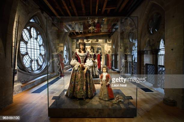 A funeral effigy of Catherine Sheffield Duchess of Buckingham from 1735 and a funeral effigy of Robert Sheffield Marquess of Normandy are seen in the...