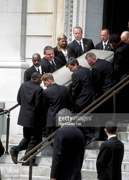 Funeral for Aaliyah during Funeral for SingerActress Aaliyah at Saint Ignatius Loyola Roman Catholic Church in New York City New York United States