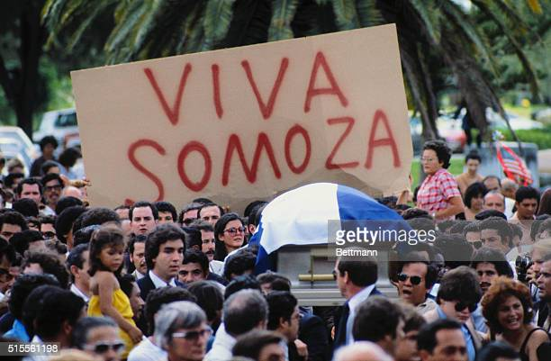 Funeral for Anastasio Somoza Debayle Nicaraguan president from 196772 and 197479 He was the younger son of dictator Anastasio Somoza