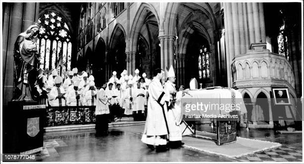 Funeral for Cardinal Freeman at St Marys CathedralCardinal ClancySon of Sydney Cathedral Sydney March 22 1991