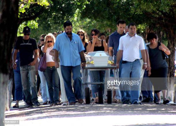 Funeral for fashion student and model Carla Sobrado Cassalle in the Sao Bento cemetery. The young girl died of complications from anorexia nervosa...