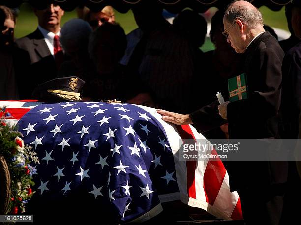 DENVER CO TUESDAY SEPTEMBER 14 2004 Funeral for former Denver Police chief Arthur Dill was held at the Church of the Risen Christ Dill was buried at...
