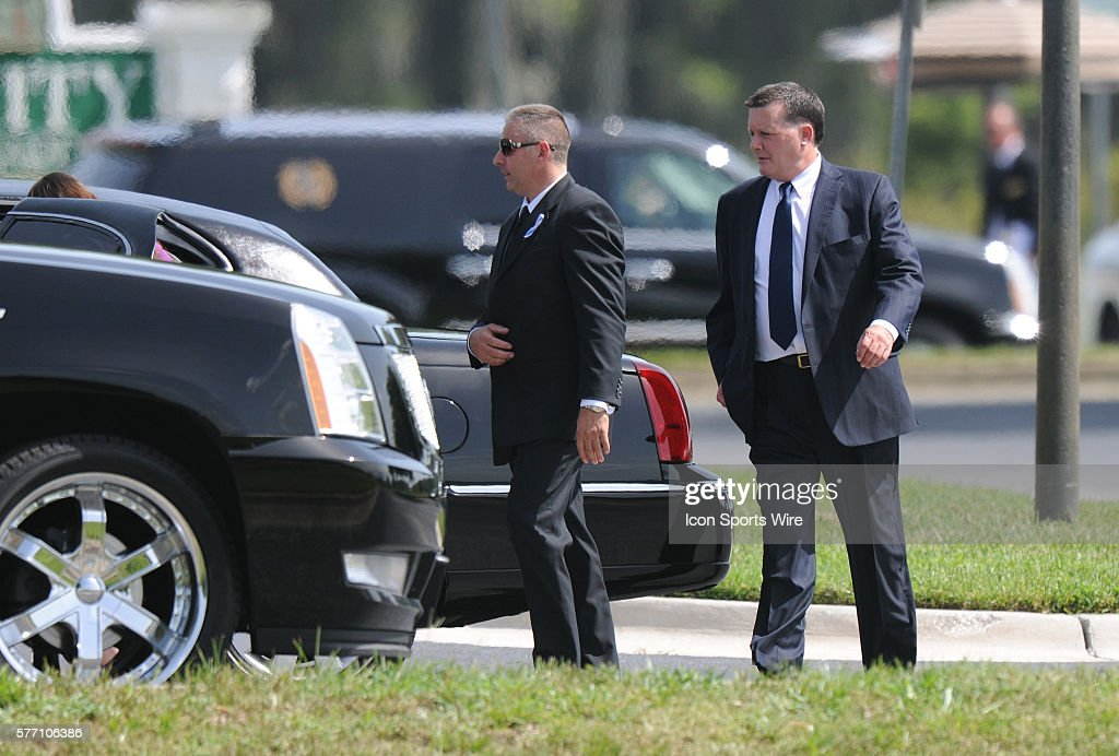 Funeral For George Steinbrenner At Trinity Memorial Gardens. Family Arrives  At The Funeral Home /