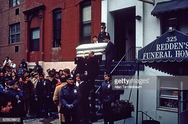 Funeral for Lisa Steinberg beaten by her adoptive father Joel New York New York November 12 1987