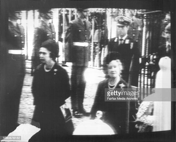 Funeral for Lord Mountbatten is London todayQueen and Queen mother arriving at Westminster September 5 1979