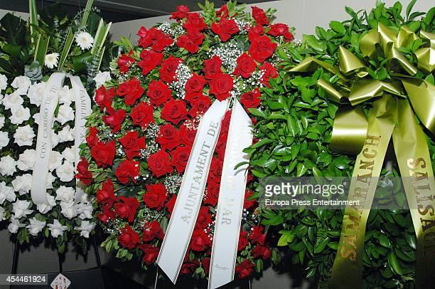 Funeral for the Spanish designer Manuel Pertegaz on August 31 2014 in Barcelona Spain