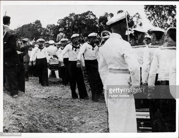 A funeral in Montevideo Uruguay for the seamen killed in the Battle of the River Plate on the German cruiser 'Admiral Graf Spee' 23rd December 1939