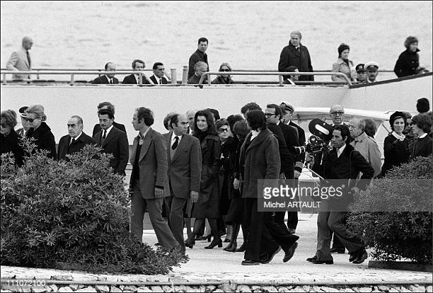 Funeral Of Aristote Onassis Jackie Kennedy Onassis In The Cortege In Greece On March 18 1954