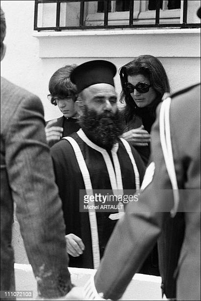 Funeral Of Aristote Onassis John John Kennedy And Jackie Onassis In Greece 21st March 1975