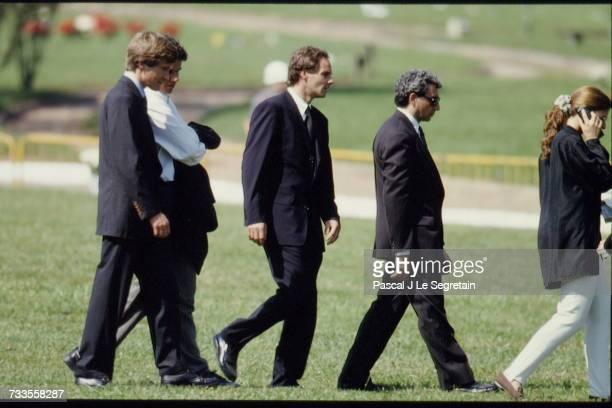 Funeral of Brazilian triple Formula One World Champion Ayrton Senna at the Morumbi cemetery