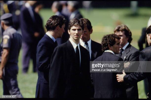 Funeral of Brazilian triple Formula One World Champion Ayrton Senna at the Morumbi cemetery