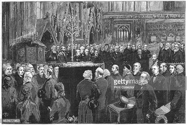 Funeral of Charles Darwin, English naturalist, 1882. After his death at Down House, his home for forty years, the body of Charles Darwin was brought...
