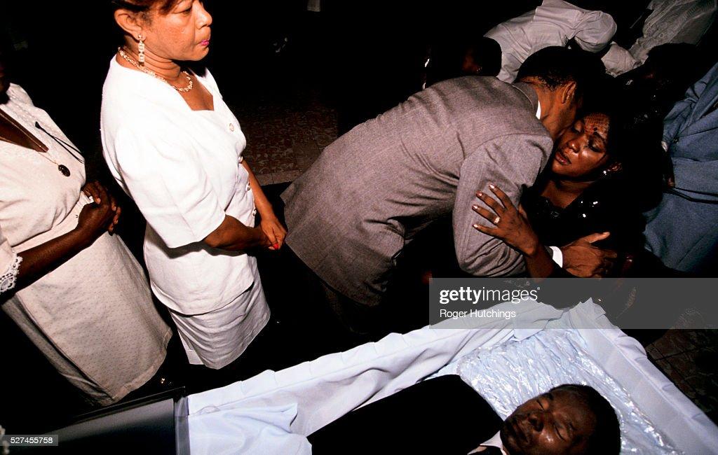 Haiti - Port au Prince - politics - funeral : News Photo