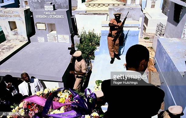 Funeral of Colonel Fritz Jocelyn whose killing was believed to be a politically motivated murder for supporting Aristide