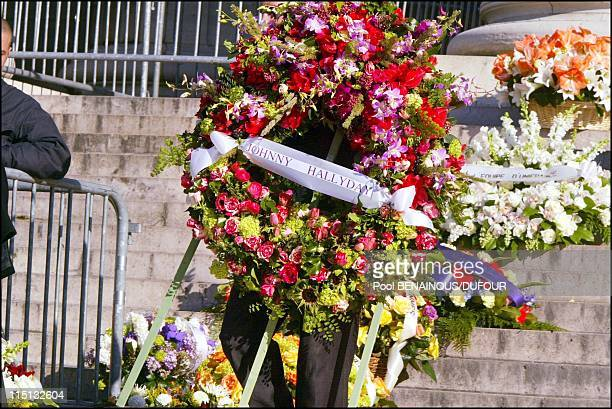 Funeral of Daniel Toscan Du Plantier at the Madeleine in Paris France on February 15 2003