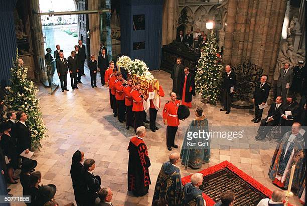 Funeral of Diana Princess of Wales at Westminster Abbey