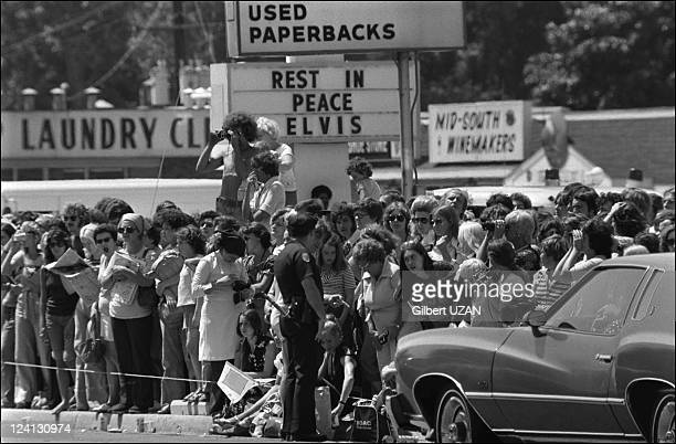 Funeral of Elvis Presley in Memphis United States on August 18 1977