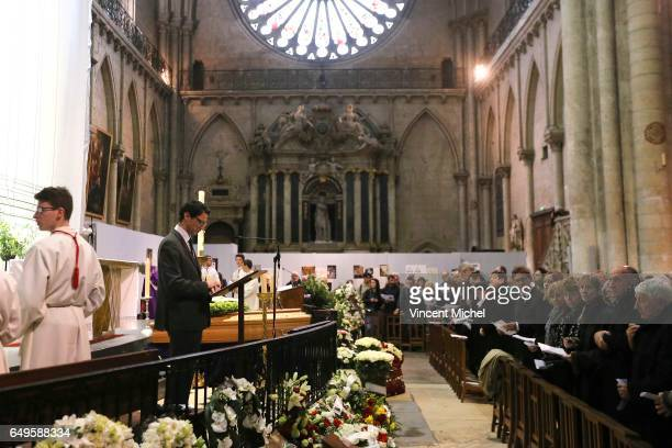 Funeral of former football player Raymond Kopa at Saint Maurice Cathedral on March 8 2017 in Angers France